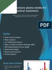 Low-Temperature Plasma Needle for Biomedical Treatments Presentation