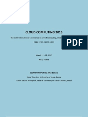 Cloud Computing 2015 Full | Cloud Computing | Grid Computing