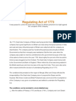 Regulating Act of 1773