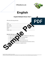 11+ English Multi-Choice 1