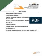 Ficha de Dados Cadastrais - Cleydson