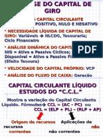 ANÁLISE DE CAPITAL DE GIRO