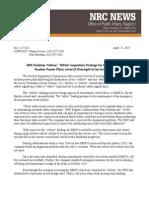 NRC Identifies Oyster Creek Problems