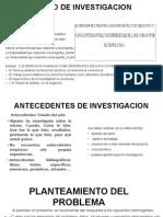 Diapositiva, Antecedentes, Titulo, Planteamiento , Justificacion y Objetivos, Modificada
