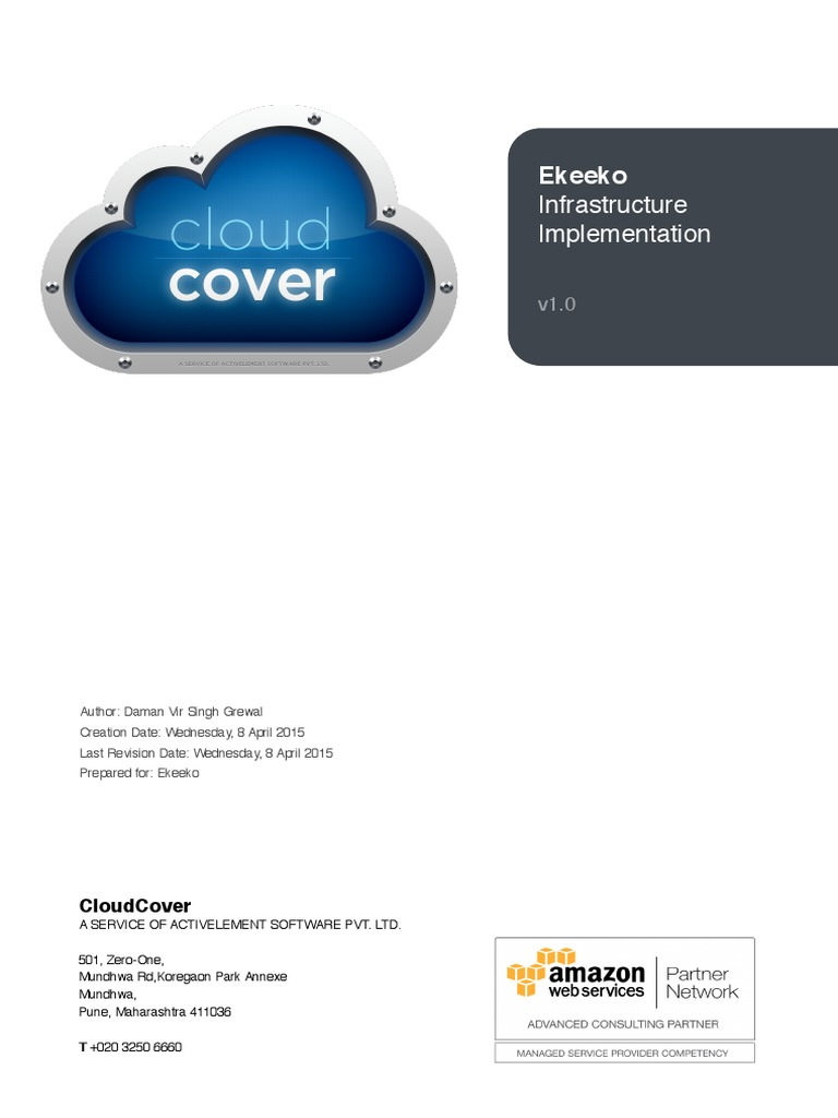 CloudCover - Ekeeko AWS Prekeekooposal | Cloud