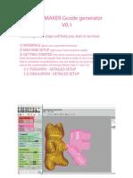 5AXISMAKER Gcode Generator Manual V0.1 2