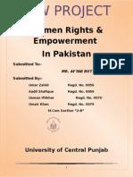 Law Project women rights in pakistan