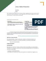 Analises de Balanço e Aplicações Financeiras
