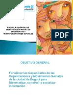 ESCUELA DE INVESTIGACIÓN PARA ORGANIZACIONES Y MOVIMIENTOS SOCIALES