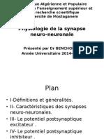Mosta Physiologie de La Synapse Neuroneuronale[1]