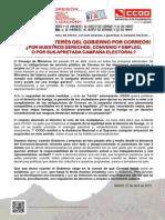 Comunicado_Repentino Interés Del Gobierno Por Correos_27!04!2015