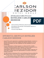 Analiza Grupului Hotelier Carlson Rezidor