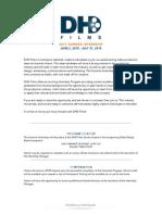 DHD Films Summer 2015 Internship Application