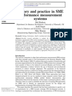 Theory and Practie in SME Performance Measurement Systems
