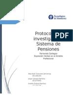 protocolo  sistema de pensiones