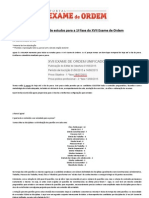 Original Novo Cronograma de Estudos Para a 1 Fase Do XVII Exame de Ordem(1)