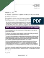 26 Apr 2015 Letter to US Senate Ctee on Energy