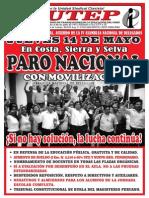 ¡PARO NACIONAL! - jueves 14 de mayo