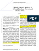 Study on Damage Tolerance Behavior of Integrally Stiffened Panel and Conventional Stiffened Panel