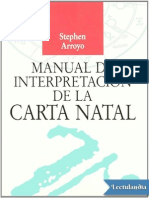 Manual de Interpretacion de La Carta Natal - Stephen Arroyo