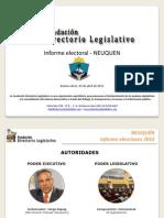 Informe Electoral - NEUQUÉN