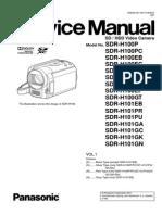 PANASONIC sdr-h100-h101