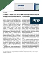 2010 La Práctica Basada en La Evidencia en El Ámbito de La Fisioterapia