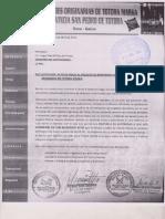 Invitación inicio de proceso de referendo en Totora Marka