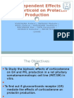 Dose-dependent effects of a glucocorticoid on prolactin production.ppt