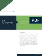 M2M Lighting IIoT Requirements of IIoT Whitepaper