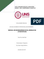 Manual de Bioseguridad de Manejo de Citostáticos
