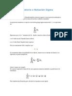 Sumatoria o Notación Sigma