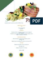 example - ferrum restaurant menu 2015