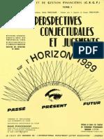 Perspectives Conjoncturales Jugements Horizon 1989