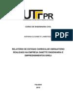 Relatório de Estágio Obrigatório - Adriana Elisabete Limberger