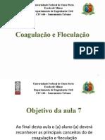 Aula 8 - Tratamento de Agua - Coagulacao e Mistura Rapida