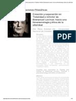 Creación y Separación en Totalidad e Infinito_ Revista Observaciones Filosóficas