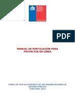 Manual de Postulación Formulario en Línea
