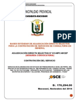 ADS 33-2014 (2da Convocatoria) Consultoria en General