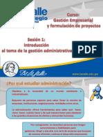 Se 1 y 2 - Introducción a La Administración