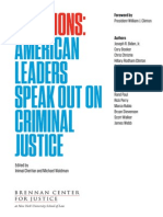 Solutions American Leaders Speak Out on Criminal Justice