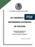 Yucatan Ley Organica de La Uady