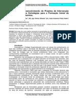 Elaboração e Desenvolvimento de Projetos de Intervenção Pedagógica como Estratégias para a Formação Inicial de Professores de Química.