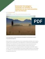 Evaluación Ambiental Estratégica . Estamos Avanzando en Instalar La Dimensión Ambiental en Los Instrumentos de Planificación Territorial