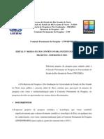 Edital Nº 06-2014 - Fluxo Continuo Para Projetos de Pesquisa