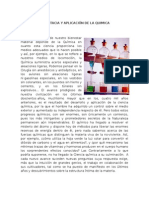 Importacia y Aplicación de La Quimica y Etapas de La Quimica