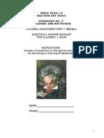 Beethoven Recall Test