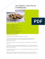 Ensalada de Verdes y Palitos de Aceituna y Parmesano