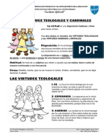 Las Virtudes Teologales y Cardinales Clase 3º Grado