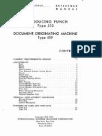 IBM 513-22-5699 1 Reproducing 513 Originating 519 Punch